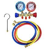 Set di strumenti diagnostici per misuratore di freon per aria condizionata G1 / 4 con tubo da 3 pezzi per R22 R134A R404A R407C