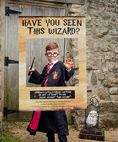 JeVenis Have You Seen This Wizard Photo Booth Prop Magier Photo Booth Requisiten Zauberer Geburtstagsfeier Gunst Dekorationen