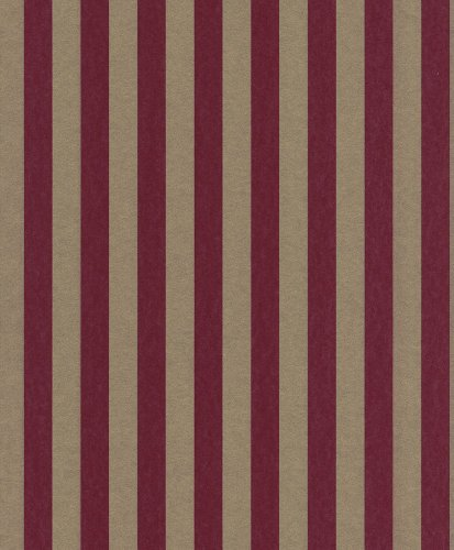 Tapete Rasch Textil Strictly Stripes Vliestapete 221595 Streifen rot gold