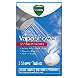 Vicks VapoShower, Shower Bomb Tablets, Soothing Vicks Vapors Steam Aromatherapy with Eucalyptus and Menthol, Non-Medicated, 3 Tablets