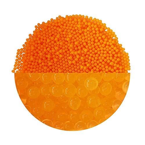 Trendfinding granulaat voor kunstmatige bloemaarde hydroparels hydro parels waterparels aquaparels 3-4 mm oranje
