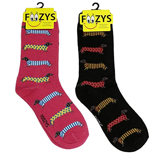 Foozys damen Mannschaftssocken | cute Tier themed mode neuheit socken dackel in pullover