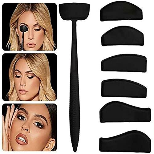 Kit de sombra de ojos Crease Line, sello de silicona Crease Cut Crease Tools,6 en 1 Kit de línea de pliegue de sombra de ojos, pliegue de sello de sombra de ojos perezoso, de ojos para dar forma