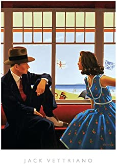 Edith and the Kingpin by Jack Vettriano Romance Vintage Print Poster 15.75x19.75