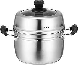 7.8/8.6/9.4/10.2 Inch Steamer Pot Set, Steamer Cookware, Steamer Cooking Pot Set, 3-tier Composiet Bodem/Enkele Bodem, Duu...