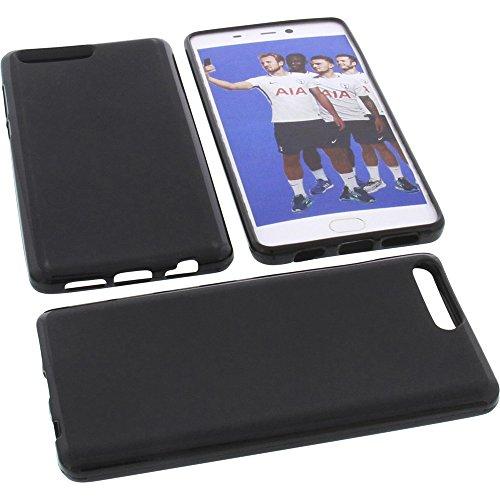 foto-kontor Tasche für Leagoo T5C Gummi TPU Schutz Handytasche schwarz