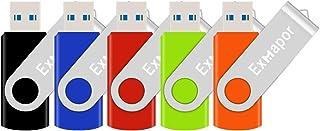 USB3.0対応 USBメモリ 32GB 5個セット Exmapor 超高速データ転送 USBフラッシュドライブ 5年保証 カラフル