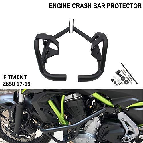 Für Kawasaki Z650 Motorrad-Sturzbügel, Motorschutz, Rahmenschieber, Stoßstangenschutz, Highway-Stangen für 2017, 2018, 2019, schwarz