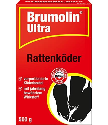 Brumolin Ultra Rattenköder, vorportionierte Köderbeutel mit bewährtem Wirkstoff, 500g