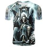 Camiseta De Terror para Hombre, Tops De Moda De Verano, Camiseta con Calavera En 3D, Talla Grande, Ropa De Calle-14_XXXL