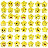 100 Stück Emoji Radiergummi, Smiley Radierer, Kleine Lustige Radiergummis, für Schulbedarf, Kinderparty-Gunst, Partytaschenfüller, Schulpreis (Muster Zufällig)