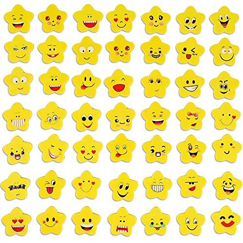 100 Pezzi Gomme per Matita Emoji, Emoticon Gomma Cancellare, per Materiale Scolastico, Bomboniera per Bambini, Riempitore per Borse da Festa, Premio Scolastico (Modello Casuale)