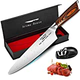 Chef Knife Professional 8-Inch Kitchen Knife German X50CrMoV15 Stainless Steel Meat Vegetables Knife...