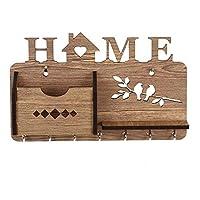 Elegante Dekoration - Dieser Vintage-Wandorganizer aus hochwertigem, massivem Holz hält ein Leben lang und , 7 metallischen haken sorgen dafür, dass Sie Ihre Schlüssel nie wieder verlegen. Unsere Wandaufhängung wurde mit Augenmerk auf Ihren größtmögl...