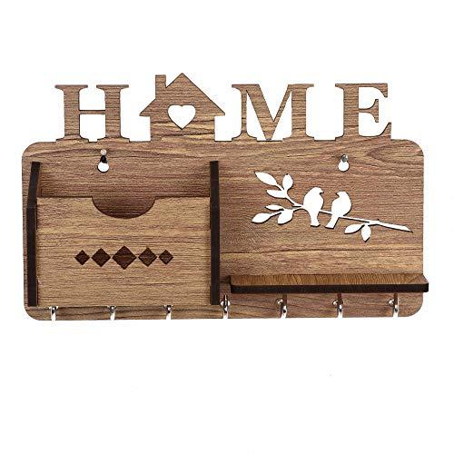 Sehaz Artworks Home Side Shelf WT KeyHolder Wooden Key Holder for Wall Decorative 7 Hooks