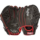 Rawlings Youth Mark of A Pro Lite Fastpitch and Baseball Glove Right Hand Throw, Black/Red, 11 Inch