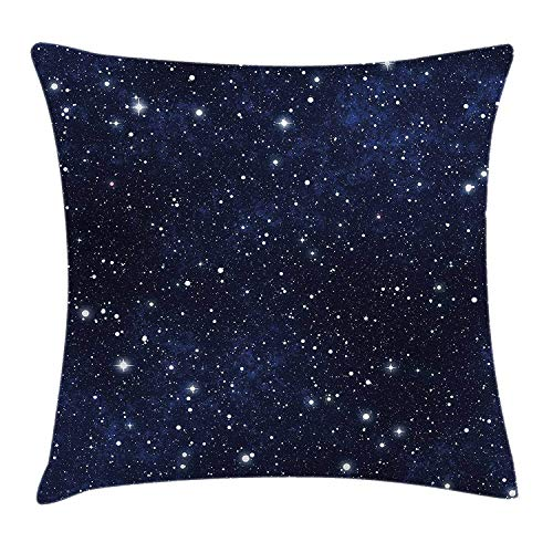 Emonye Night Pillow case Star Filled Dark Sky Vivid Celestial Theme Cosmos Galactic Cluster Constellation 18 X 18 inches