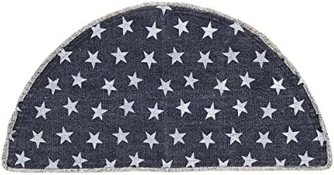 VHC Brands Multi Star Navy Rug Half Circle 16 5x33 product image