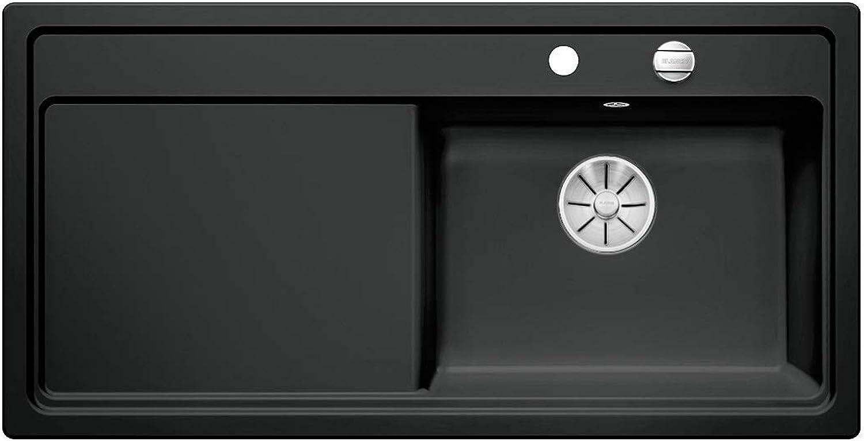 Weiß ZENAR XL 6 S Einbauspüle Keramik Schwarz Becken rechts Excenter