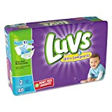 Luvs Ultra Leakguards Diapers Size 2, 40 Count