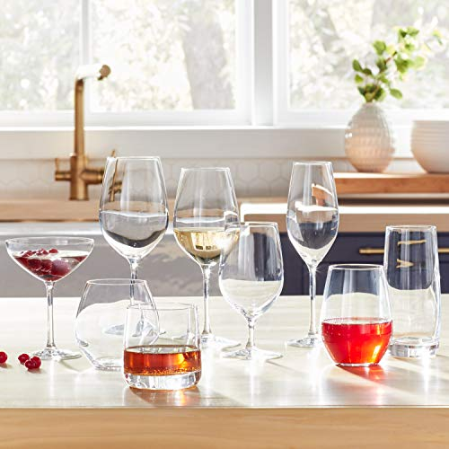 Amazon Brand – Stone & Beam Traditional Martini Coupe Glass, 8-Ounce, Set of 6