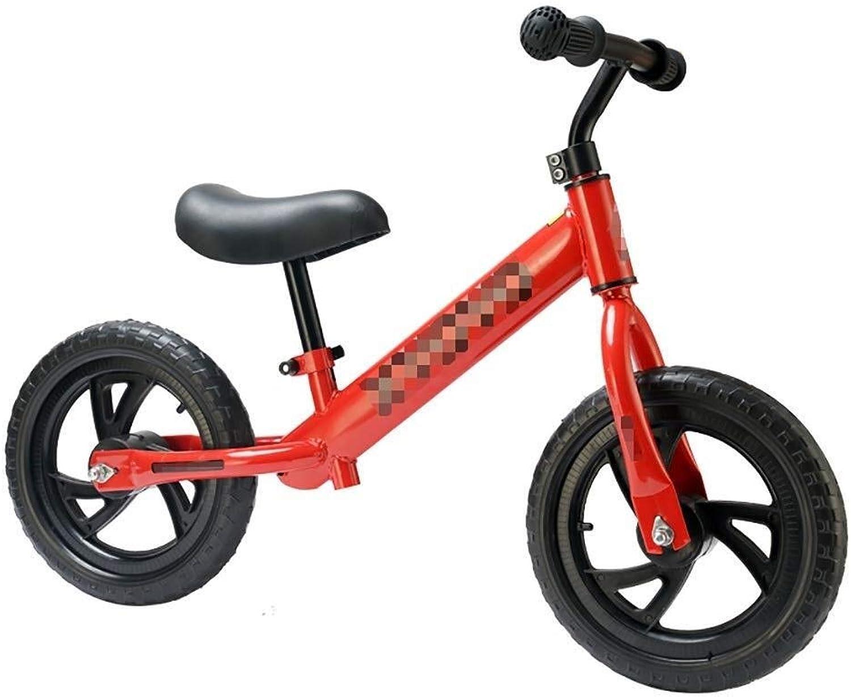 Kinder Laufrad Kinderfahrrad Keine Pedale Leichtes Laufrad für Kinder Laufrad Metall Laufrad Jungen Mdchen Geburtstagsgeschenk ZHAOFENGMING (Farbe   rot, Größe   As Shown)