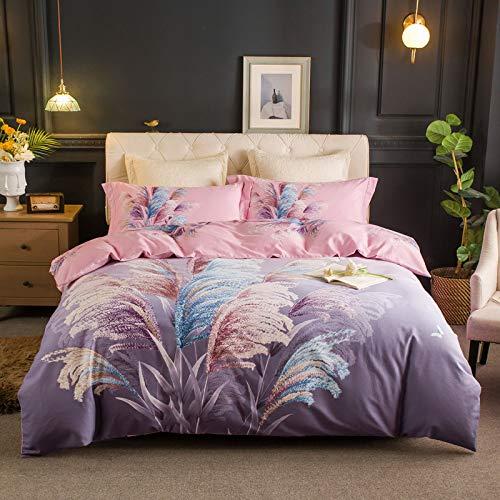 yaonuli Eco-katoenen strikken, 4-delig, herfst, dikke druk, warme druk, katoen, huis, textiel, morgen, wit yang, 1,8/2,0 m bed (dekbedovertrek 220 x 240 cm)