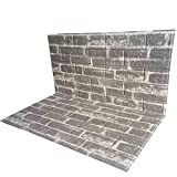 POPPAP 3D Wall Panels Peel and Stick Self Adhesive Foam Brick Wall Tiles Light Grey White Painted Colorful Brick Effect Wallpaper PVC Foam Wall Decorative Tiles 10 Panels