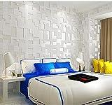 Papel Pintado No Tejido 0.53m x 9.5m Moda plaid-beige Papel De Pared Dormitorios Salón Hotel Fondo De Tv Elegante Moderno Fine Decor Murales
