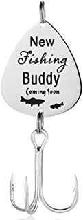 ELOI New Dad Gift Fishing Buddy Coming Soon Lure Pregnancy Announcement Gift for New Father