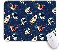 PATINISAマウスパッド 宇宙服フライ宇宙飛行士宇宙宇宙おかしいかわいい落書き星空の旅人 ゲーミング オフィス おしゃれ 良い 滑り止めゴム底 ゲーミングなど適用 マウス 用ノートブックコンピュータマウスマット