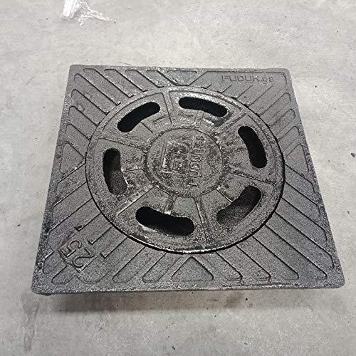 Sumidero campana Fundicion 25X25cms negro