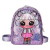 Sac d'école à paillettes, motif de fille mignonne sacs à dos d'école primaire livre crayon stockage mode Double sacs pour filles garçons
