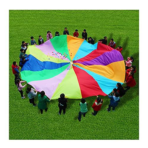 Juega paracaídas juegos de paracaídas al aire libre, juegos de paracaídas para niños, juguetes de paracaídas fuerza de brazo ejercicio (tamaño : 7 m) (tamaño: 7 m)