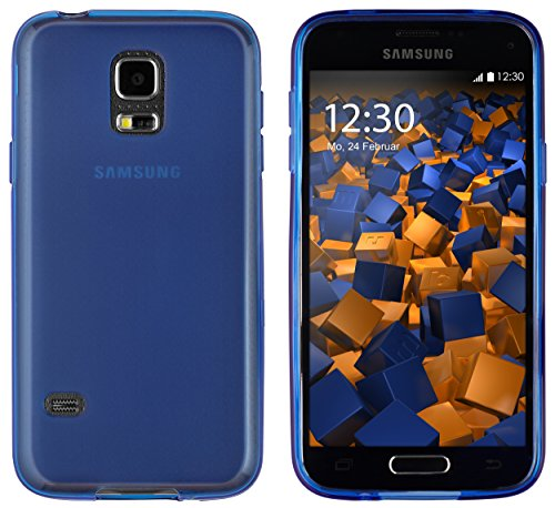 mumbi Hülle kompatibel mit Samsung Galaxy S5 Mini Handy Case Handyhülle, blau