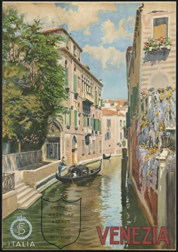 """2022 Wall Calendar [12 pages 8""""x11""""] Italy Vintage Travel Poster Europe"""