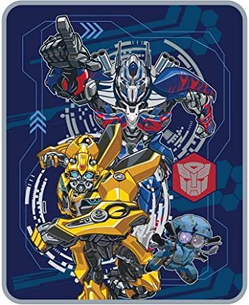 Transformers Super Soft,  Warm and Cozy 5 The Last Knight 'Lead The Way' Silky Soft Throw,  40 x 50,  Blue/Multicolor