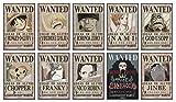 ABYstyle - One Piece – Lot Poster Wanted Equipage du Chapeau de Paille (52 x 35cm)