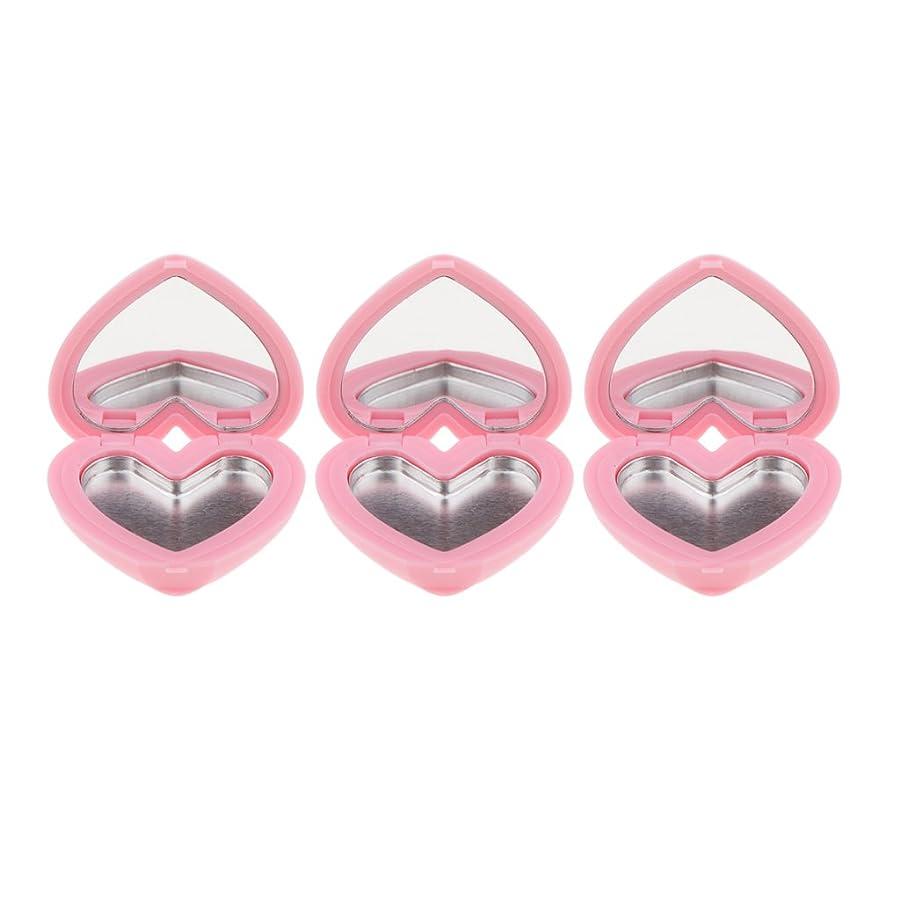 ゾーン振り子自発Perfk コスメ 詰替え 収納ケース 口紅 アイシャドウ ハート型 手作り プレゼント おしゃれ 全4色 - ピンク