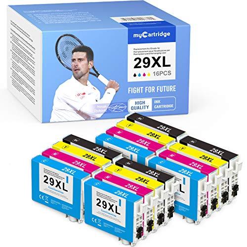 MyCartridge 16 cartuchos de tinta compatibles con Epson 29 XL para impresoras Epson Expression Home XP-235 XP-245 XP-247 XP-332 XP-335 XP-342 XP-345 XP-432 XP-435 XP-442 XP-445