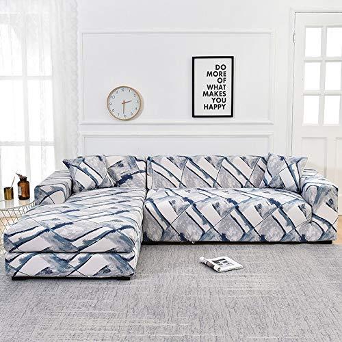 WXQY Funda para sofá de Sala de Estar Chaise Longue, en Forma de L Necesita Comprar 2 Juegos, Funda de sofá elástica Funda de sofá de Esquina en Forma de L A26 4 plazas