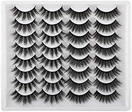 JIMIRE 2 Variety Styles False Eyelashes 16 Pairs Fluffy Volume Natural Fake Lashes Pack product image