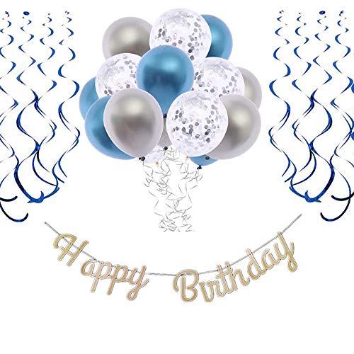 blau grau Geburtstagsdeko
