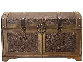 Styled Shopping Nostalgic Medium Wood Storage Trunk Wooden Treasure Chest