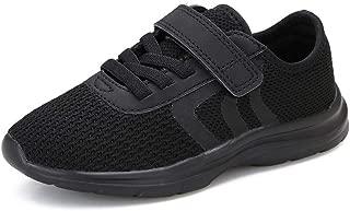 KANCOOLEST Kids' Breathable Hook & Loop Sneakers Slip on Lightweigh Casual Athletic Walking Running Shoes for Boys Girls Toddler