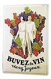 LEotiE SINCE 2004 Plaque en Métal Métallique Poster Mural tin Sign 40x30 cm Alcool Retro Vin France Bar Pub Restaurant