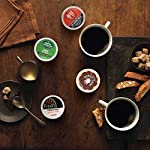 Keurig k-cup pod variety pack, single-serve coffee k-cup pods, amazon exclusive, 72 count 18 includes: 3 k-cup pods from 20 popular varieties, including green mountain coffee breakfast blend, the original donut shop regular, newman's own organic special blend, caribou coffee caribou blend, tully's coffee italian roast, and many more variety: sample different coffees and discover your favorites from a wide variety of roasts, flavors, and brands compatibility: contains authentic keurig k-cup pods, engineered for guaranteed quality and compatibility with all keurig k-cup coffee makers