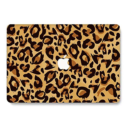 MacBook Pro 13 Case Retina Display 2012-2015 Ver A1425 and A1502, Jiehb Plastic Hard Shell Case Only Compatible MacBook Retina 13 inch (NO Touch) - Leopard