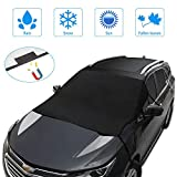JeCar Windshield Snow Cover All Weather Auto Windshield Sun Shade with Straps & Magnet, Waterproof Windshield Sun Shade for Most Cars Trucks Vans and SUVs