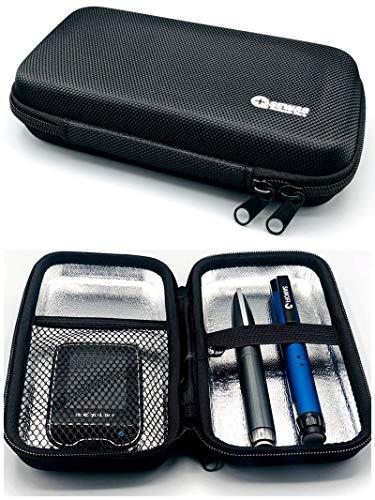 SEWAS Diabetic Care,Tasche Hardcase Blutzuckermessgerät & Diabetes Zubehör, Reisetasche, Diabetikertasche für Insulin, Pen Case, Gürteltasche
